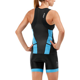 2XU Perform Débardeur de triathlon Femme, black/aquarius mesh print